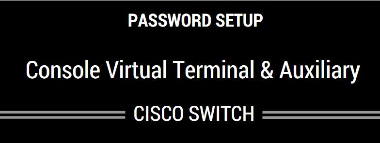 Setup Console, VTY, Auxiliary Port Passwords On Cisco Switch