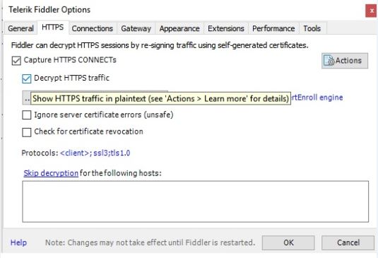 fiddler options decrypt http traffic
